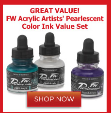 FW Acrylic Artists' Pearlescent Color Ink Value Set