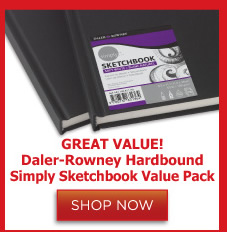 Daler Rowney Hardbound Simply Sketchbook Value Pack