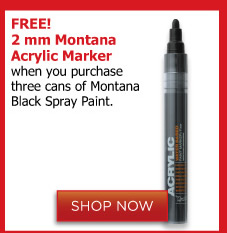 Montana Black Spray Paint