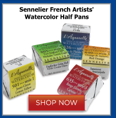 Sennelier French Artists Watercolor Half Pans