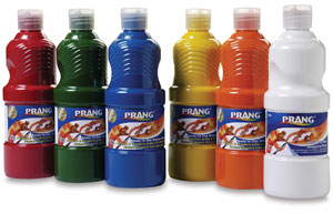 Prang Ready-To-Use Tempera Paint, Set of 12, Pint (16 oz)s, n/a