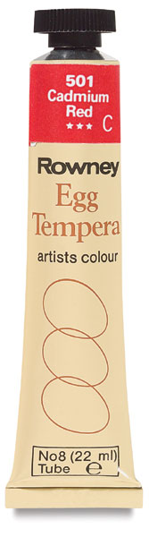 Egg Tempera, Cadmium Red