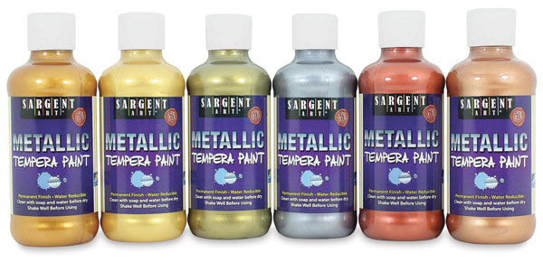 Metallic Tempera, 8 oz Bottles
