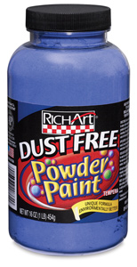 Dust Free Powder Paint, Blue