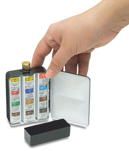 Artists' Watercolor Case, Heavy Weight Enamel Box