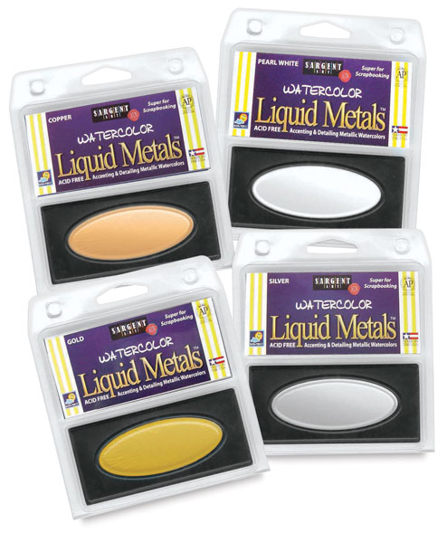 Liquid Metal Watercolor Pans
