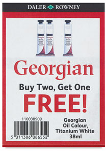 38 ml Titanium White Tubes, Buy Two Get One  FREE 