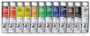 Holbein Duo Aqua Water Soluble Oils, Starter Set