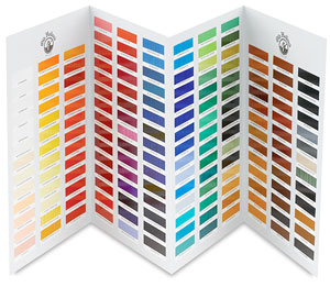 Hand-painted Color Chart