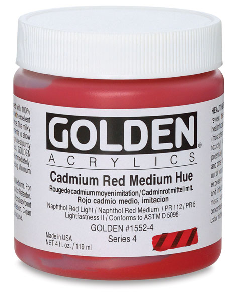 Cadmium Red Medium Hue, 4 oz Jar