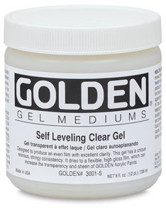 Golden Self-Leveling Clear Gel Medium