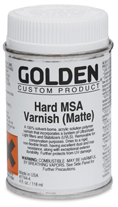 Hard MSA Varnish - Matte, 4 oz
