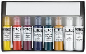 Golden Fluid Acrylics Sets, Set of 8