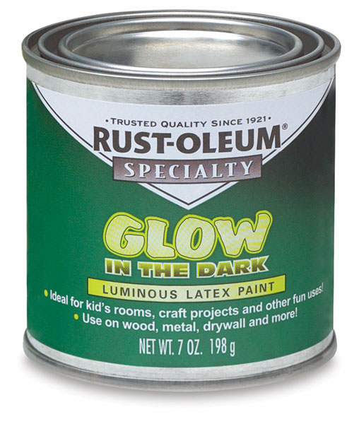 rust oleum glow in the dark brush on paint blick art materials. Black Bedroom Furniture Sets. Home Design Ideas