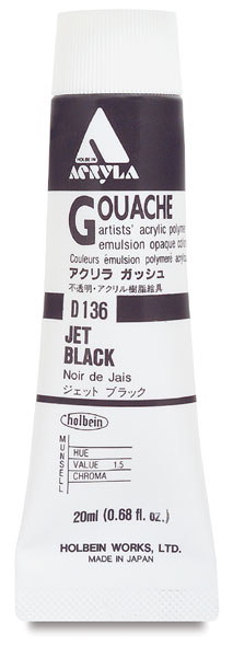 Jet Black, 20 ml Tube