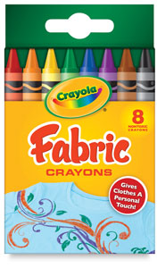 Crayola Fabric Crayons, NULL, Set of 8