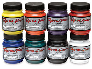 Jacquard Dye-Na-Flow Fabric Colors, Set of 8, 2.25 oz