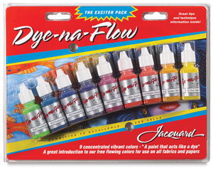 Jacquard dye-na-flow fabric colors, exciter pack, dye-na-flow