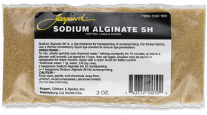 Jacquard Chemicals for Fabric Dyeing, Sodium Alginate, 2 oz