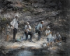 &quot;Reflections, River Fishers 2&quot; by Donn Granros