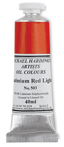 Cadmium Red Light, 40 ml Tube