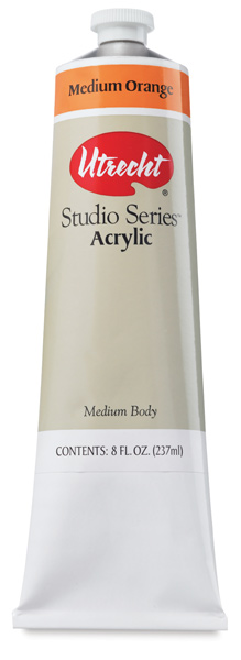 Studio Series Acrylics, Medium Orange, 237 ml Tube