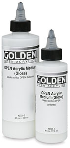 Acrylic Medium, Gloss, 8 oz and 4 oz Bottles