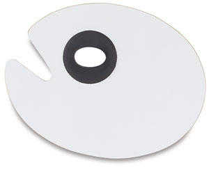 White Melamine Palette, Oval