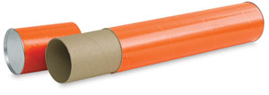 Mailing Tube, Orange
