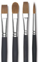 Blick Masterstroke Pure Red Sable Long Handle Brushes