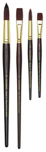 Long Handle and Short Handle Galeria Brushes