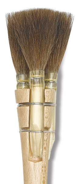 Luco triple squirrel square brushes series 3642 rd blick for Luco lettering brushes
