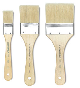 Loew-Cornell Utility Brush Sets, Utility Brushes, Brown Nylon, Set of 3