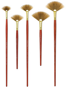 Long and Short Handle Fan Brushes