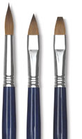 Escoda Optimo Kolinsky Sable Oil Brushes