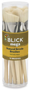 Mega Natural Bristle, Set of 12