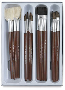 Ceramic Glaze Brushes, Set of 16