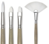 Escoda Perla Toray White Synthetic &lt;nobr>Long Handle&lt;/nobr>