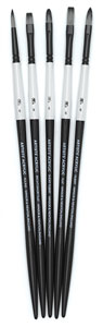 Artists' Acrylic Brushes, Set of 5