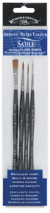 Artists' Watercolor Brushes, Set of 5