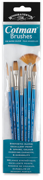Cotman Watercolor Brushes, Set of 7