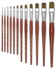 Blick Master Kolinsky Sable Short Handle Brushes