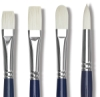 Silver Brush Bristlon Stiff White Synthetic Brushes