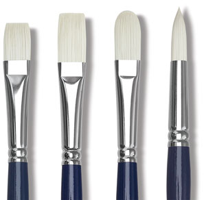 Bristlon Stiff White Synthetic Brushes