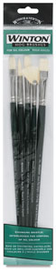 Winton Hog Bristle Brushes, Set of 5