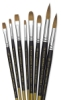 Blick Masterstroke Finest Red Sable Short Handle Brushes