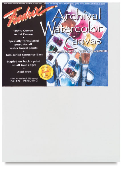 """Watercolor Canvas, 3/4"""" thick"""