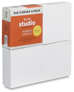 Museum Profile Canvas, Pkg of 4