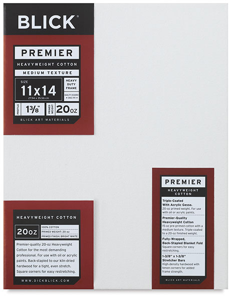 "Premier Heavyweight Canvas, 1-3/8"" Deep"
