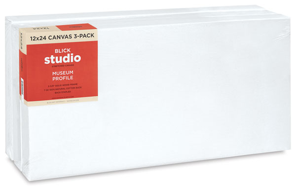 Museum Profile Canvas, Pkg of 3  NEW!
